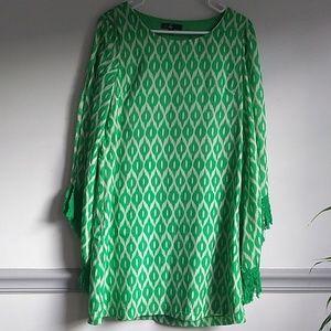 C. Luce  shift  dress, kimono sleeves